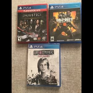 3 PlayStation 4 games 1 NWT Bafta award winning